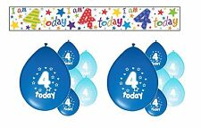 4th BIRTHDAY PARTY PACK DECORATIONS BANNER BALLOONS (SE.B.2)