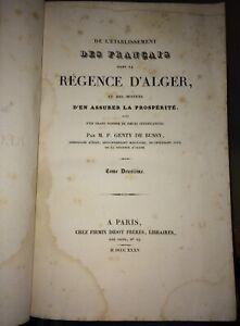GENTY DE BUSSY . ALGÈRIE. PIÈCES JUSTIFICATIVES.1835;