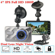 GPS Full HD Dual Lens Car DVR Camera Night Vision Video Recorder Parking Monitor