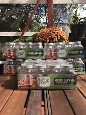 BALL 12pk 16oz Regular Mouth Pint Canning Mason Jars, Lids & Bands Clear Glass