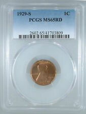 1929-S Lincoln Cent MS-65 RD PCGS Certified