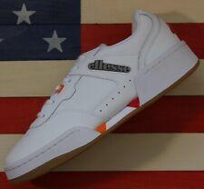Ellesse Piacentino 2.0 Men's Leather AM Tennis Shoes White/Orange/Red [6-10306]