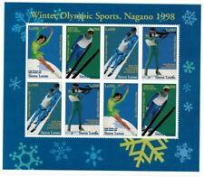 VINTAGE CLASSICS - Sierra Leone Pre Winter Olympics '98 - Sheet Of 8  - MNH