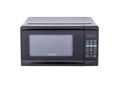 Sunbeam 0.7 cu ft 700 Watt Microwave Oven Black Dorm Apartment