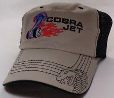 Hat Cap Licensed Ford Mustang Cobra Jet Black Mesh  CF