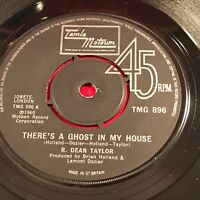"""R. DEAN TAYLOR There's A Ghost In My House 1974 UK 7"""" vinyl single EXCELLENT K"""
