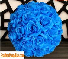 Royal Blue Rose Flower Pomander Wedding Kissing Ball 11-12 inches USA Seller