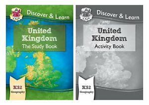 KS2 GEOGRAPHY UNITED KINGDOM STUDY BOOK ACTIVITY BOOK 2 BOOK BUNDLE