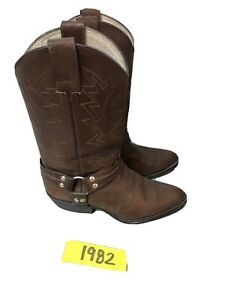 Botas Enbar Brown Leather Harness Motorcycle Boots Size 27 Mexico
