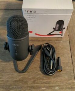Fifine K678 USB Podcast Microphone Vocal Recording Streaming Condenser Mic