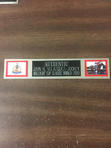 AUTHENTIC (BREEDERS CUP) NAMEPLATE FOR SIGNED PHOTO/MEMORABILIA DISPLAY