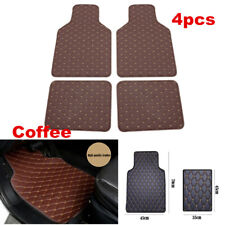 Set of 4 PU Leather Car Floor Mats Front&Rear Carpet For Interior Accessories