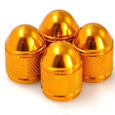 4 bouchon de valve en aluminium auto moto vélo jante roues voiture bmx pneu doré