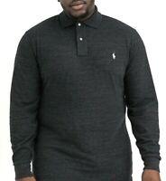Men's Polo Ralph Lauren Big & Tall Mesh Classic Fit Polo Shirt Black Heather