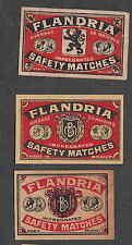 Ancienne   étiquette  Allumette  Belgique BN2210 Flandria