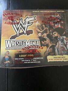 2001 Fleer WWF WWE Wrestlemania Factory Sealed Hobby Box 28 Packs Very Rare