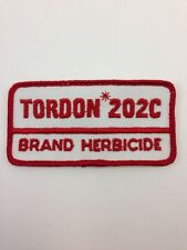 Vtg Tordon 202C Herbicide Sew-On Embroidered Patch Farming Dow AgroSciences Weed