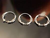 Wunderbare Silber Ohrringe Creolen Einzeln Single Klein Konvolut Vintage