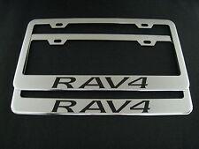 """2 toyota """"RAV4"""" RAV 4 Stainless Steel Chrome license plate Frame + screw caps"""