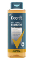 DEGREE MEN MAXIMUM RECOVERY BODY WASH AND SOAK GINGER EXTRACT, 16 OZ