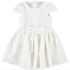 BILLIEBLUSH girls white floral textured DRESS 2Y fit & flare full skirt