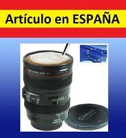 TAZA con forma de OBJETIVO DE CAMARA reflex canon gadget cafe te agua EF24-105mm