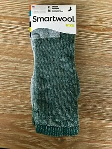 NEW Smartwool Mens Hike Merino Wool Crew Socks - Green Heather - X-Large