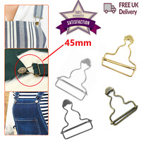 Dungaree Buckles 45mm Metal Clips DIY Fasteners For Sewing Clothings Jumpsuits