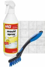 HG Mould Spray Shower Bath Cleaner Tile & Grout Stain Remover Scrubbing Brush