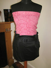 LULU & RED designer mini SKIRT 8-10 NEW pin-up black sexy party