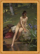 Paul Peel 4205 The Little Shepherdess Art Print//Poster