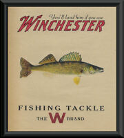 Winchester Walleye Fishing Tackle Ad Reprint On 90 Year Old Paper *P110