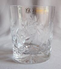 Double Old Fashioned Tumbler Glass Zawiercie Crystal Pinwheel & Star Design
