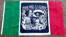 Que Viva La Causa Mexican Flag 3'x5' Flag Wall Hanging Bar, Man Cave