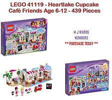 LEGO 41119-Heartlake Cupcake Café Amici Età 6-12 - 439 PEZZI
