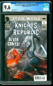 Star Wars: Knights of the Old Republic 49 CGC 9.6 NM+ Jedi Sith Cassus Fett