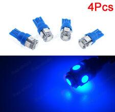 4x Blue 5-SMD LED T10 Car Front Sidemarker Lamp Bulbs For Infiniti QX56 Q45 M45