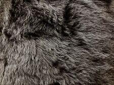 Faux cheveux court fourrure gris foncé tissu robe fantaisie par M