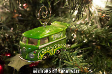 RARE! Custom Volkswagen T2 Bus Christmas Ornament VW Van 1/64 Scale Samba Camper