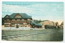 Wabash IN Big Four Railroad Train Station Depot Postcard