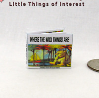 WHERE THE WILD THINGS ARE Miniature Color Illustrated Dollhouse 1:12 Scale Book