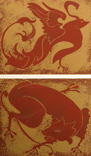 "Marcia Mancheski ""Beast Banter II"" Hand Signed Color Serigraph Fine Art Print"