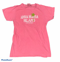 Woman's ANNA MARIA ISLAND Pink T-Shirt 100% Cotton Top Short Sleeve Size Small S
