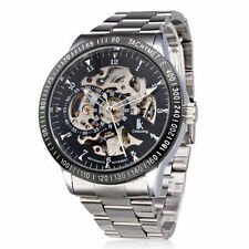 AUTO Mechanical Men Steampunk Skeleton LK Colouring Stainless Steel Wrist Watch