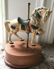 Vintage Willitts Wood Base Musical Horse Carousel Waltz Ca94975