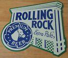 Rolling Rock Extra Pale Premium Beer Metal Tin Bar Pub Sign 2000 Latrobe Brewing