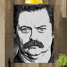 RON SWANSON art. a muro incorniciata foto A4 A3 A2 A1 Print pronto da appendere