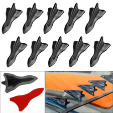 10PCS Plastic Vortex Generator Diffuser Shark Fin Set For Wing Roof Windshield