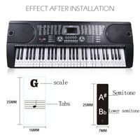Piano Keyboard Stickers Decal Label Note 37 49 61 88 Keys For Beginners Learn US
