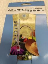 Thermometer, Indoor or Outdoor, 0 to 120F Acu-Rite Suction Cup Window Mount